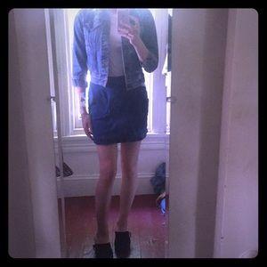Urban Outfitters Denim moto mini skirt